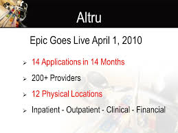 Altru My Chart Healthpartners Reporting Workbench Pilot Ambulatory Cottage