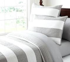 rugby stripe comforter gray and white bedding set