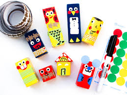 diy wooden block dolls kids transform old blocks into cute characters with this fun art