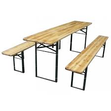 beer garden table. Beer Garden Table With Benches And Black Legs For Outdoor Furniture C