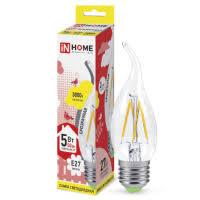 <b>Лампа</b> светодиодная In-<b>Home</b> Deco <b>Свеча</b> на ветру прозрачная ...