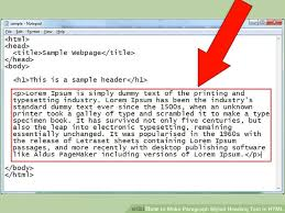 How To Make Paragraph Styled Heading Text In Html 10 Steps