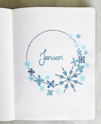Snowflake Bullet Point 15 Beautiful Bullet Journal Winter Theme Ideas Bullet Journal Addict