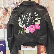 order here custom just married denim jacket