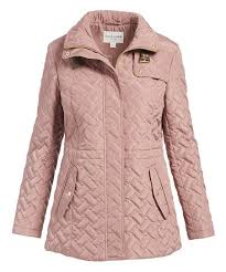 Cole Haan Jacket Size Chart Cole Haan Mauve Funnel Collar Quilted Jacket Women