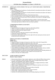 Mortgage Underwriter Resume Cover Letter Job And Resume Template