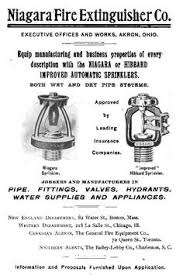 parmelee and neracher fire sprinkler patents vintage fire  advertisment for niagara automatic fire sprinklers late 1800 s