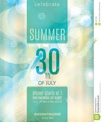 invitation flyer elegant summer party invitation flyer template stock vector