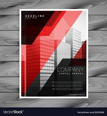 Brochure Templates For It Company Red Black Abstract Company Brochure Template