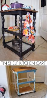 tin furniture. turn an old kitchen cart into a thing of beauty with chalk paint and tin shelves furniture