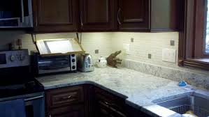 cabinet under lighting. Led Strip Lighting Under Cabinet White Glossy Marble Top Table Plaid Tile Wall Wooden Material