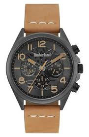 timberland men s henniker 2 brown leather strap watch 46x53mm bartlett ii multifunction leather strap watch 44mm x 48mm