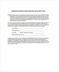 How To Make Your Birth Plan Birth Plan Template 17 Free Word Pdf Documents Download