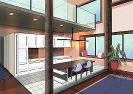 Sketchbook Pro Interior Design Perspective Guides Using Two Point Perspective For Drawing