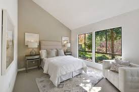 transitional master bedroom ideas. Brilliant Ideas Carpeted Midsize Master Bedroom In Neutral Colors Of White And Beige  Beautifully Complemented By The Cozy Elements Decor On Transitional Master Bedroom Ideas E