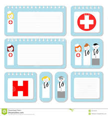 Doctors Note Paper Doctor And Nurse Note Paper Stock Vector Illustration Of Business