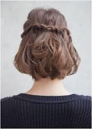 cute half up braid hairstyle for um short hair