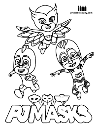 Pj Masks Coloring Pages Catboy