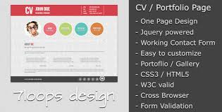 free and premium resume cv html website templates and layouts    symplicity cv   portfolio page