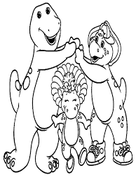 Small Picture Coloring Pages Free Printable Barney Coloring Pages For Kids Best