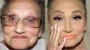old women makeup tea flego39s grandma livia gets an incredible makeup transformation