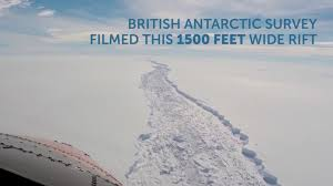 antarctic ice sheet growing watch the ever growing rift in antarcticas fourth biggest ice shelf