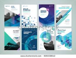 paper flyer brochure annual report flyer design templates stock vector 2018
