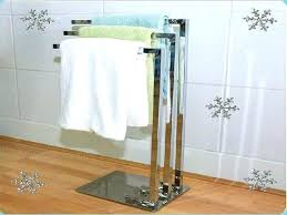 Free Standing Towel Holder Free Standing Towel Rack Brushed Nickel