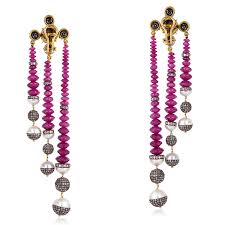 23 2ct beaded pearl ruby 18kt gold sterling