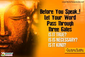 Most Inspiring Words By Gautama Buddha About Talking Motivational