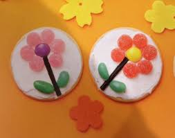 Flower Marie Biscuits Kids Parties Baking With Kids Cookies For