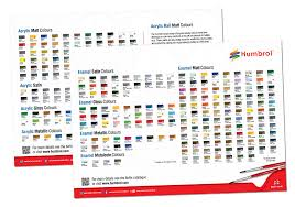 Humbrol Paint Conversion Chart Revell Airfix Model Paint Colour Chart Hasegawa Paint Chart