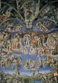 Страшный Суд Фреска Микеланджело Микеланджело Страшный Суд