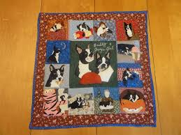 Hand Made Beloved Buddy Memory Quilt- Large Custom Pet Memorial ... & Custom Made Beloved Buddy Memory Quilt- Large Custom Pet Memorial Portrait Adamdwight.com