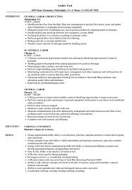 General Labor Resume Samples Velvet Jobs