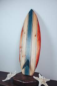 surf decor wood surfboard california