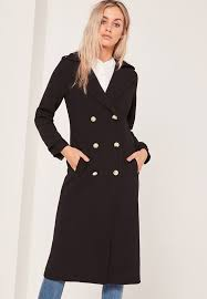 best winter coats lightweight military trench coat black from missguided 93 50 usd