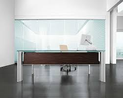 attractive modern office desk design created with glass table countertop and metal table legs ceo executive office home office executive desk