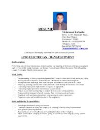 Brilliant Ideas of Sample Resume For Iti Electrician With Additional  Description