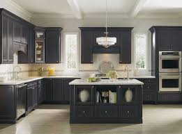 Kitchen Bar Dazzling Kitchen With Black Decora Cabinets And White
