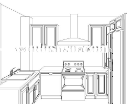 simple kitchen drawing. Simple Kitchen Drawing I