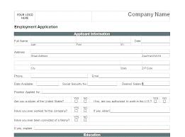 Printable Blank Job Application Template Download Them Or Print
