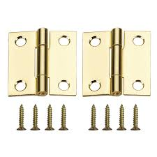 gatehouse door hardware hinges 2 pack 1 5 in h brass plated interior sc 1 st loweu0027s