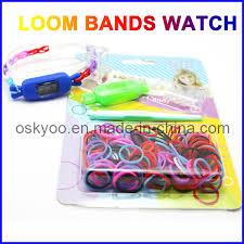 china creative diy kids toys kit set rainbow loom bands bracelet watch china loom watch loom kits watch