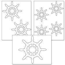 ship steering wheel template u2016 printable treats