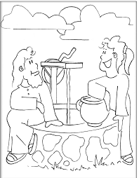 Small Picture Samaritan Woman At The Well Coloring Page Coloring Home