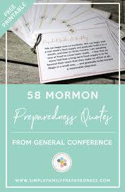 Mormon Quotes Classy 48 Mormon Preparedness Quotes From General Conference Simple