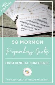 Mormon Quotes Impressive 48 Mormon Preparedness Quotes From General Conference Simple
