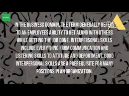 definition of interpersonal skills what is the definition of personal skills youtube