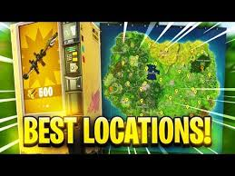 Vending Machine Finder Magnificent ALL VENDING MACHINE LOCATIONS In Fortnite YouTube